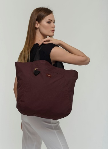 Cache The Bag Carmen1002(Insıde-Out)-Çift Taraflı Çanta Bordo